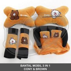 Bantal 3 In 1 Cony Brown Line Mobil Avanza / Xenia 2008 - 2011
