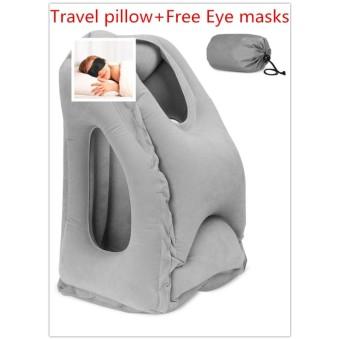 Bantal Inflatable Perjalanan Bantal untuk Airplanes Kantor Multifungsi Air Inflatable Nap Bantal Leher Bantal dengan Full