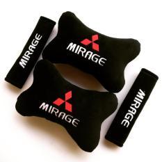 Bantal Mobil 2 in 1 - Mitsubishi Mirage (Hitam)