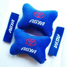 Bantal Mobil 2 in 1 - Toyota Agya (Biru)