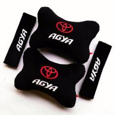 Bantal Mobil 2 in 1 - Toyota Agya (hitam)