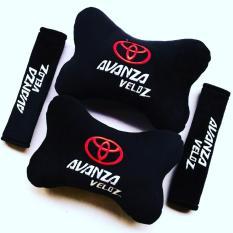 Bantal Mobil 2 in 1 - Toyota Avanza Veloz (Hitam)
