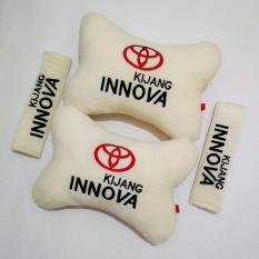Bantal Mobil 2 in 1 - Toyota Kijang Innova (Cream)