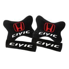 Bantal Mobil Car Seat Sandaran Jok Mobil 2in1 Honda Civic- Merah