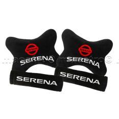 Bantal Mobil Car Seat Sandaran Jok Mobil 2in1 Nissan Serena - Merah
