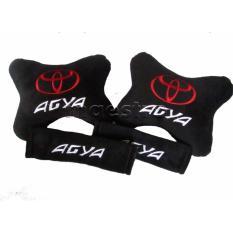 Bantal Mobil Car Seat Sandaran Jok Mobil 2in1 Toyota Agya - Merah