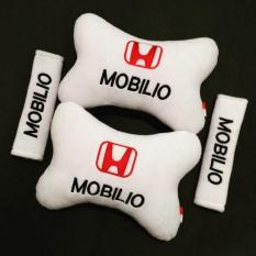 Bantal Mobil Honda Mobilio - 2 in 1 (2 Bantal & 2 Cover Sabuk Pengaman