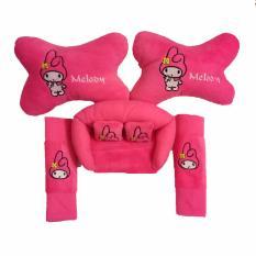 Jual Bantal Mobil Melody Pink 3In1 Car Set Melody Pink 3In1 Custom Murah