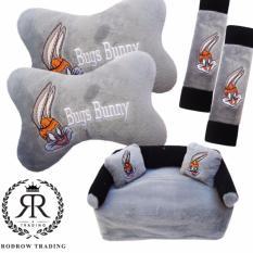Bantal Mobil Set Bugs Bunny 3 in 1/Bantal Jok Mobil Bugs Bunny Set 3in1