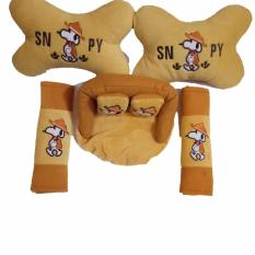 Jual Bantal Mobil Snoopy 3In1 Car Set 3In1 Snoopy Satu Set