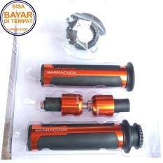 Jual Barracuda Grip Motor Cnc Premium Jalu Stang Handgrip Universal Untuk Semua Motor Merah Online