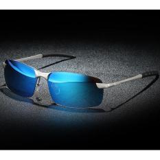 Beli Baru Kacamata Terpolarisasi Pria Polaroid Mengemudi Matahari Kacamata Ray Merek Fashion Desainer Laki Laki 3043 Biru Internasional Online Murah