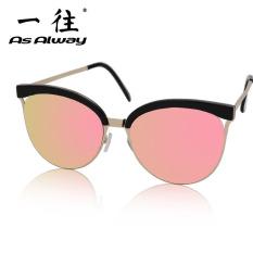 Rp 123.100 2018 model baru Kotak Setengah Pelindung Layar Berwarna  reflektif kacamata hitam bingkai besar wajah b14c2d1961