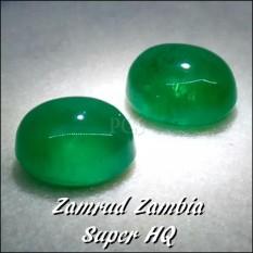 BATU AKIK PERMATA ZAMRUD ZAMBIA GRADE AAA HIJAU MULUS SUPER MURAH- BELUM TERMASUK RING / CINCIN !!!