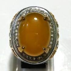 Batu Cincin Kalsedon Kuning Ring Titanium