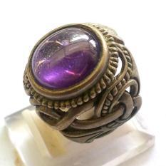 Batu dan cincin natural kecubung unggu ring pesanan