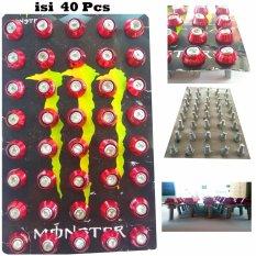 Baut L + Ring Monel Variasi Isi 40pcs Universal - Baut monel Merah