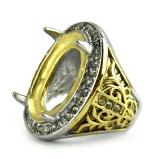 Beau Ring Cincin Emban Platinum - TA3