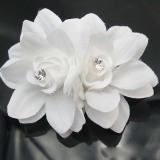 Harga Cantik Rambut Bunga Klip Pin Pengantin Pernikahan Prom Pesta Untuk Gadis Wanita Putih Fullset Murah