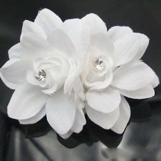 Jual Cantik Rambut Bunga Klip Pin Pengantin Pernikahan Prom Pesta Untuk Gadis Wanita Putih Oem Grosir