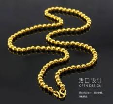 Indah Vietnam Pasir Emas Kalung Berduka Jatuh Ke Piring dengan Emas Perhiasan Pria Sombong untuk Meniru Benar atau Salah Rantai Emas Anak Hari Ini Tahun-Internasional