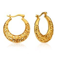 Wanita-Wanita Cantik Mewah Telinga Jaket Anting-18 Karat Berlapis Emas Perhiasan Anting Berlubang Gadis India Hadiah Pesta E10102