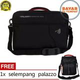 Toko Beli 1 Gratis 1 Palazzo 34685 Backpack Tas Laptop 3In1 Multifungsi 17 Inch Original Black Raincover Selempang Note Book Original Palazzo Online Terpercaya