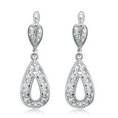 Bella & Co. Earrings AKE028 Aksesoris Perhiasan Anting Lapis Emas White Gold