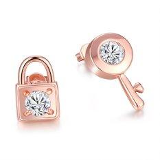 Bella & Co. Earrings AKE038 Aksesoris Perhiasan Anting Lapis Emas Rose