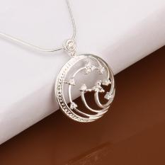 Promo Bella Co Lady Geometry Necklace Lknspcn437 Silver Plated Aksesoris Perhiasan Kalung Indonesia