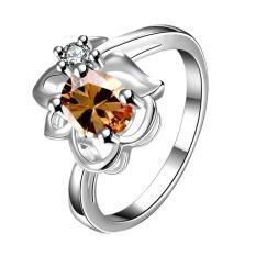 Bella & Co Popular Party Ring LKNSPCR602-8 Silver Plated Aksesoris Perhiasan Cincin