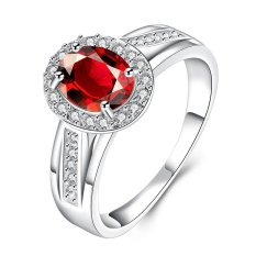 Bella & Co. Ring SPR010-B-7 Aksesoris Perhiasan Cincin Lapis Silver