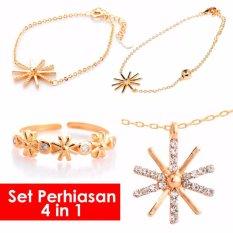 Bella & Co. Set Perhiasan Drama Korea Descendant Of The Sun Gelang Kalung Cincin