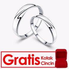 Bella & Co SILVER LINING Couple Ring Cincin Tunangan Cincin Pernikahan Silver 925 Lapis Emas 18K