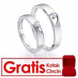 Jual Bella Co Angel Heart Couple Ring Cincin Tunangan Cincin Pernikahan Silver 925 Lapis Emas 18K Online Dki Jakarta