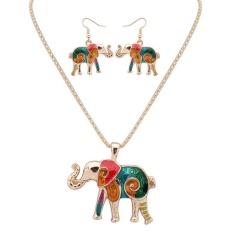 Bellamall: Nakal Gajah Perhiasan Set Kalung Earrings Fashion Aksesoris Retro Lucu-Intl