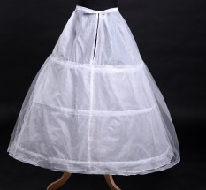 Jual Benang Tiga Rims Single Layer Pannier Pengantin Gaun Pengantin Branded Original
