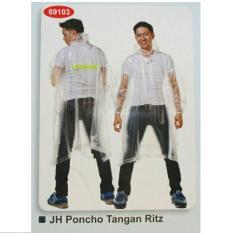 Harga Bening Raincity 69103 Jas Hujan Transparan Jaket Ponco Baju Transparant Celana Pop Poncho Terusan Jubah Pria Wanita Raincoat Tangan Lengan