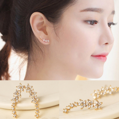 Bertatah Berlian 925 Sterling Silver Anting