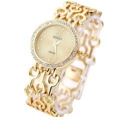 Toko Bessky Fashion Strap Bracelet Watch Round Dial Tabel Gelang Wanita Jam Tangan Emas Intl Online