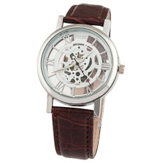 (BEST)-AliExpress ebay Taobao explosion models men's fashion business hollow back through mechanical style quartz watch - intl