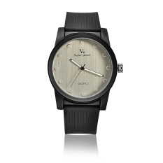 (BEST)-AliExpress ebay Taobao Hot Factory direct fashion V6 men's simple quartz belt quartz watch - intl