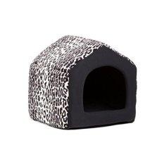 Best Friends by Sheri 2-in-1 Pet House-Sofa in Zoo. Leopard Black.. 15x13x13
