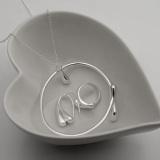 Tips Beli Hadiah Terbaik Set Perhiasan 925 Berlapis Perak Kalung Anting Anting Gelang Cincin