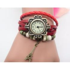 BEST JAM KEPANG GELANG TRIBAL Motif PARIS Women Leather Watches LILIT VINTAGE INDIAN