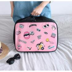 Toko Best Lip Travel Bag Ukuran L Hand Carry Tas Lipat Koper Luggage Organizer Tenteng Pink Terlengkap