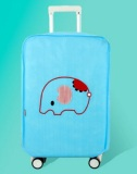 Review Tentang Best Luggage Cover Blue Elephant Penutup Sarung Pelindung Koper Travel 24 Inchi