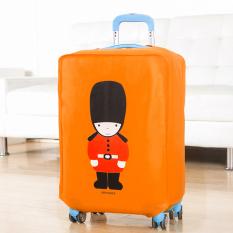 Best Luggage Cover Orange Soldier Penutup, Sarung Pelindung Koper Travel 20 Inchi
