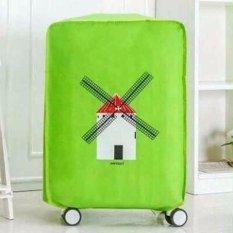 Best Luggage Cover Hijau Windmils Penutup, Sarung Pelindung Koper Travel 20 Inchi