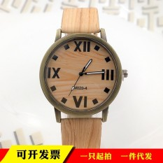 (BEST)-New wood watch Roman scale bronze wood watch Ebay Europe and the United States Taobao fashion universal table - intl